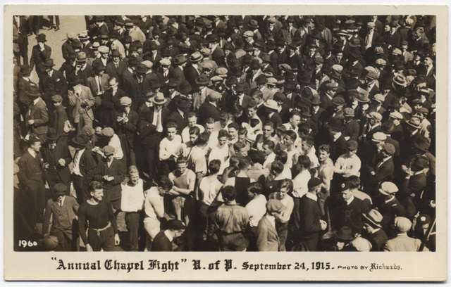 Annual Chapel Fight, University of Pennsylvania, 1915