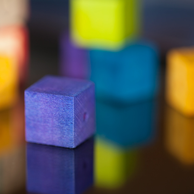 "Bokeh Thursday: ""Square"" Featuring an Assortment of Wooden Beads"