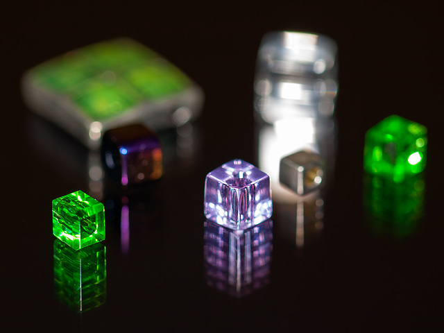 "Bokeh Thursday: ""Square"" Featuring an Assortment of Tiny Crystal Beads"