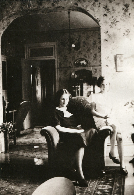 Lois and Marge, in house at Lehi, 1930s