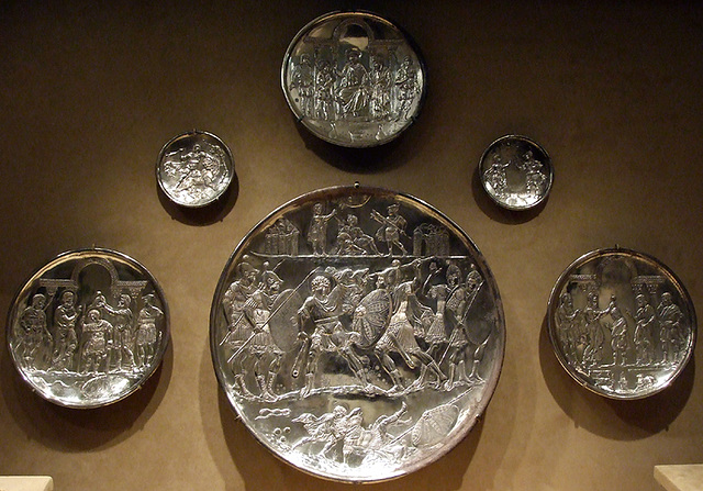 Ipernity Six Silver Plates With Scenes From The Early Life Of David