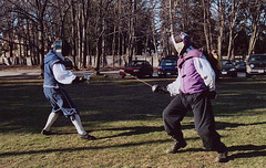 Fencing at Celtiberian Silliness, March 2006