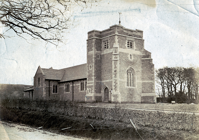 All Saints Church Barnacre, Lancashire From the north west c1905
