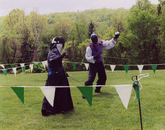 Christine and Alexandre Fencing at Ian & Katherine's Last Championships, May 2006