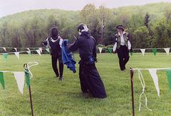 Llywellan and Christine Fencing at Ian & Katherine's Last Championships, May 2006