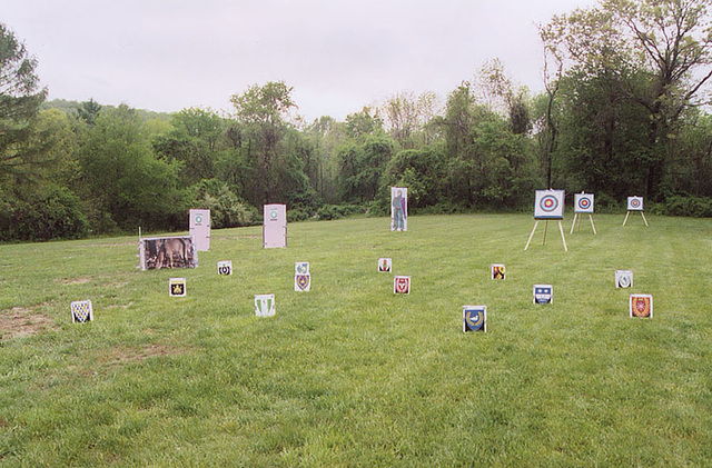 Archery Targets at Ian and Katherine's Last Championships, May 2006