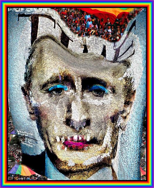 Zombie Putin with Pride Border