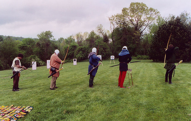 Archery at Ian and Katherine's Last Championships, May 2006
