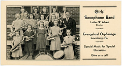 Girls' Saxophone Band, Evangelical Orphanage, Lewisburg, Pa.