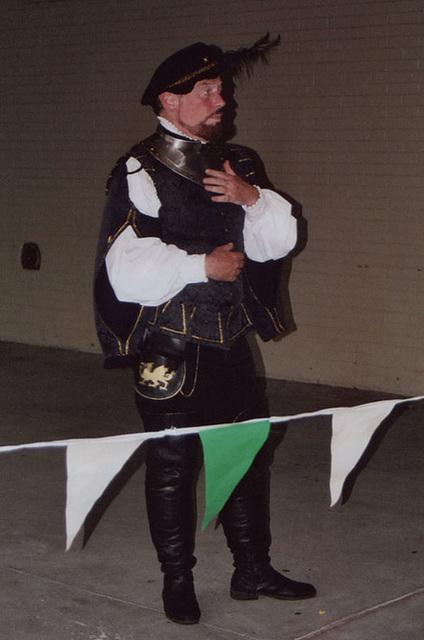 Llywellan Demonstrating Fencing at the NEST School Demo, 2006