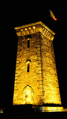 BELFORT: La tour de la Miotte by night.