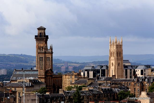 Glasgow City Skylines from Speirs Wharf