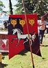 Mistress Brianna McBain's Banner at the Peekskill Celebration, Aug. 2006