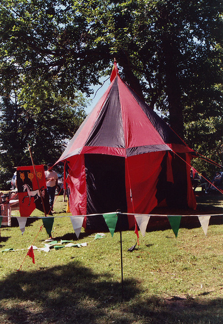 Mistress Brianna McBain's Red and Black Tent at the Peekskill Celebration, Aug. 2006