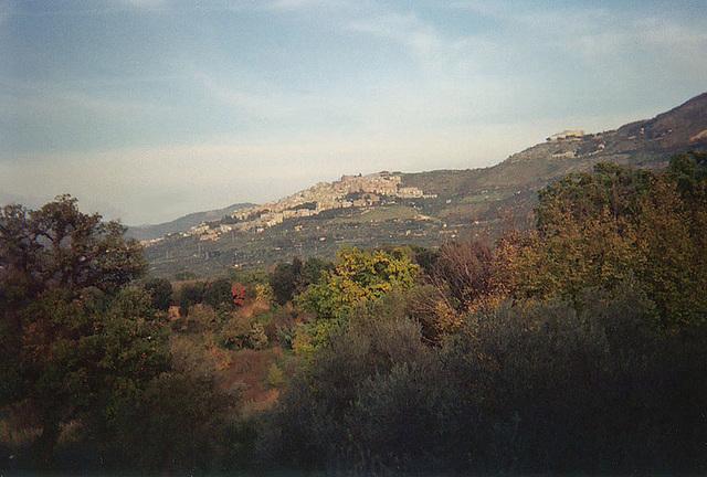 View of Tivoli from Hadrian's Villa, 2003