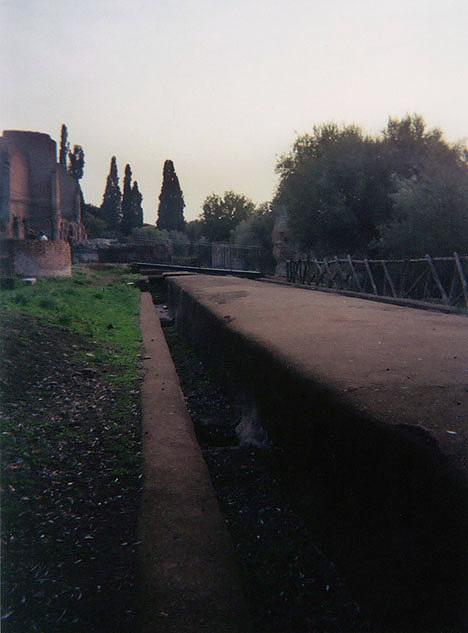 The Euripus in Hadrian's Villa, December 2003