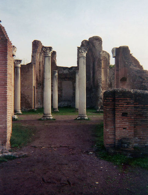 Columns in Hadrian's Villa, December 2003