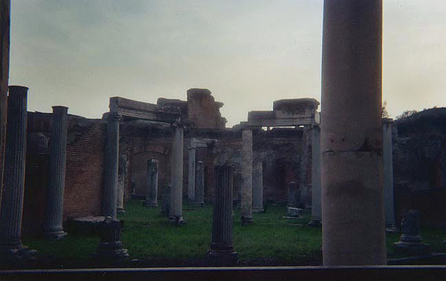 Colonnade in Hadrian's Villa, December 2003