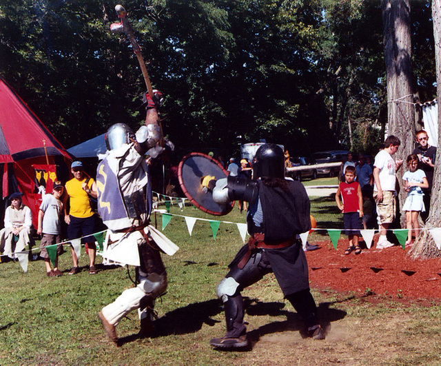 Ervald & Aaron Fighting at the Peekskill Celebration, Aug. 2006