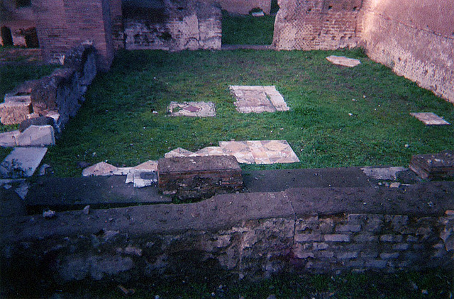 Remains of a Colored Marble Floor in Hadrian's Villa, Dec. 2003