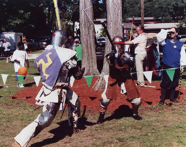 Sancha & Ervald Fighting at the Peekskill Celebration, Aug. 2006