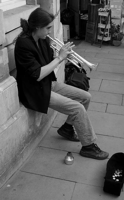 Bath Street Musician X-E1 1
