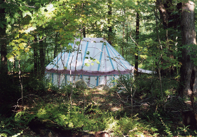 John & Rufina's Tent in the Woods at Barleycorn, Sept. 2006