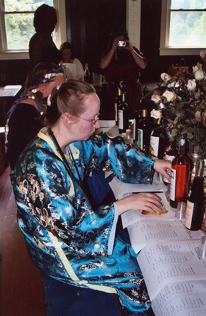 Biya Judging the Brewing Contest at Barleycorn, Sept. 2006