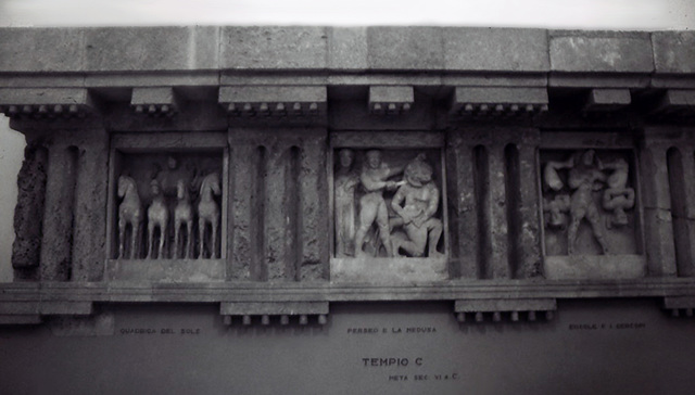 Metopes of Temple C at Selinus in the Palermo Archaeology Museum, March 2005
