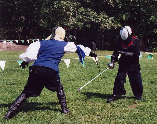 Fencers at Barleycorn, Sept. 2006