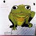 """Frog """"Alexandre"""" Target at Barleycorn, Sept. 2006"""