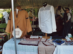 Costuming Demo at the Queens County Farm Museum Fair, Sept. 2006