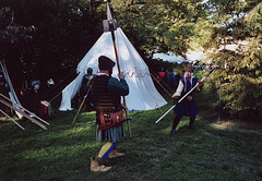 Non-SCA Fighting Demo at the Fort Tryon Park Medieval Festival, Oct. 2006