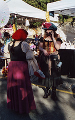 """""""Medieval Cell Phones"""" at the Fort Tryon Park Medieval Festival, Oct. 2006"""