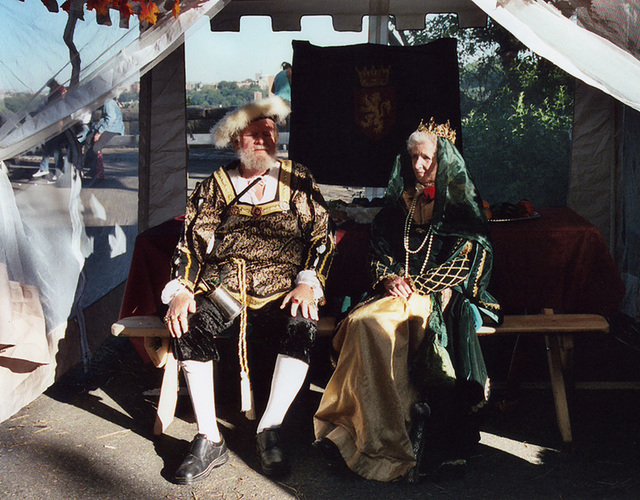 King and Queen of the Festival at the Fort Tryon Park Medieval Festival, Oct. 2006