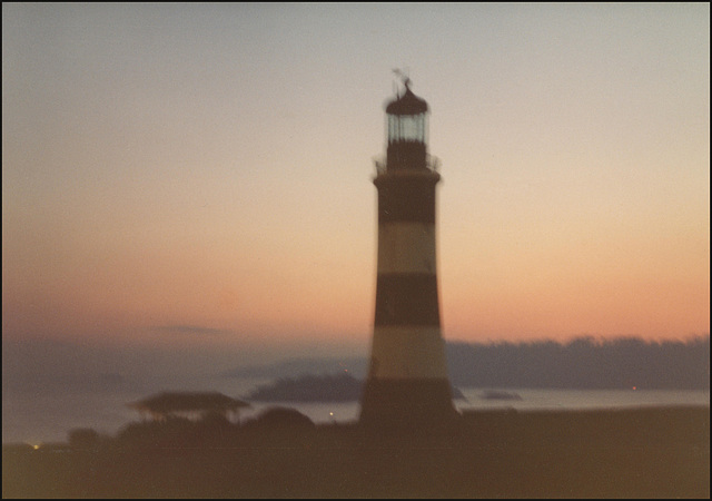 blurred Plymouth sunrise