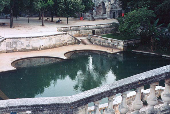Jardin de la Fontaine in Nimes, 1998