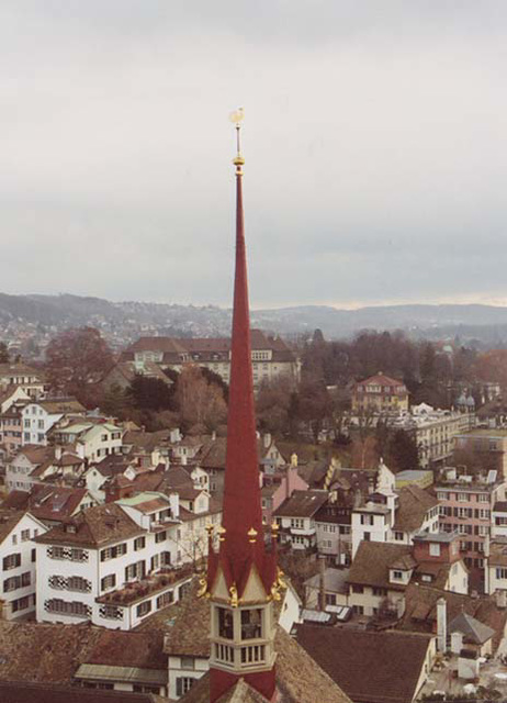 The Steeple on the back of the Grossmunster in Zurich, November 2003