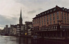 View of the Limmat River in Zurich, November 2003