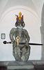 Statue of Charlemagne inside the Grossmunster in Zurich, Nov. 2003