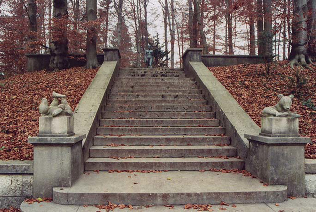 The Staircase at the Oskar Reinhart Museum at Romerholz in Winterthur, Nov. 2003