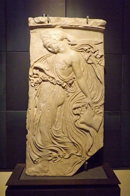 Relief with a Dancing Maenad in the Capitoline Museum, July 2012