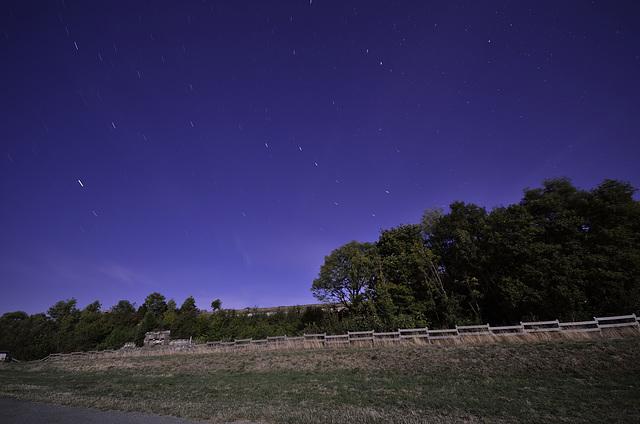 BELFORT: Le fort du Salbert de nuit par pleine lune. 02