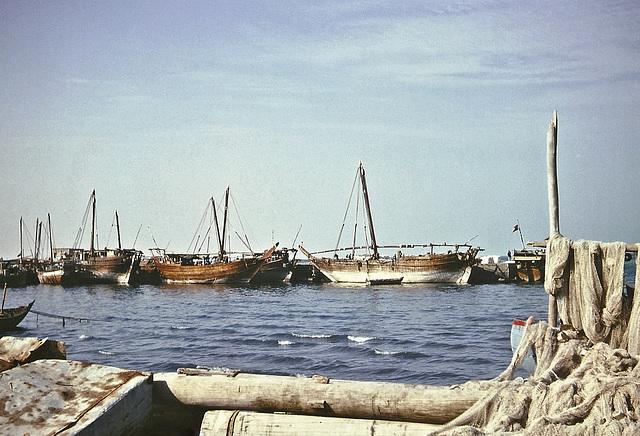Seafront scene, Doha, Qatar, 1967