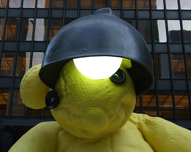 Detail of Untitled (Lamp/Bear) by Urs Fischer, May 2011