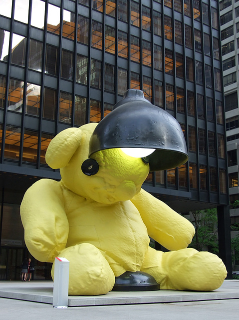 Untitled (Lamp/Bear) by Urs Fischer, May 2011