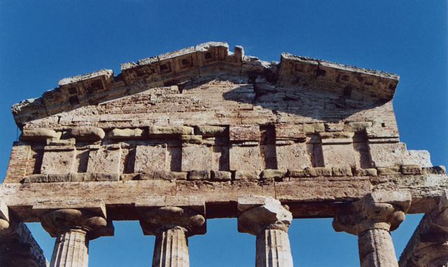 Temple Entablature in Paestum, November 2003