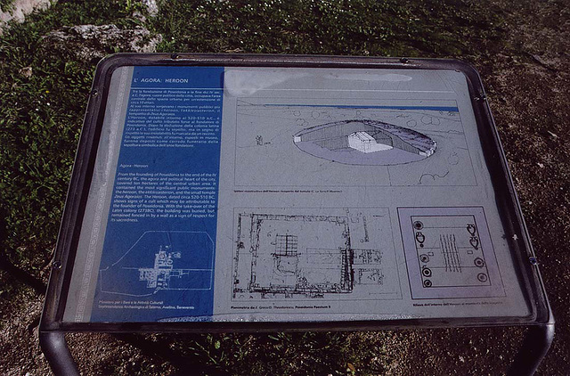 Plan and Reconstruction of the Heroon in Paestum, 2003