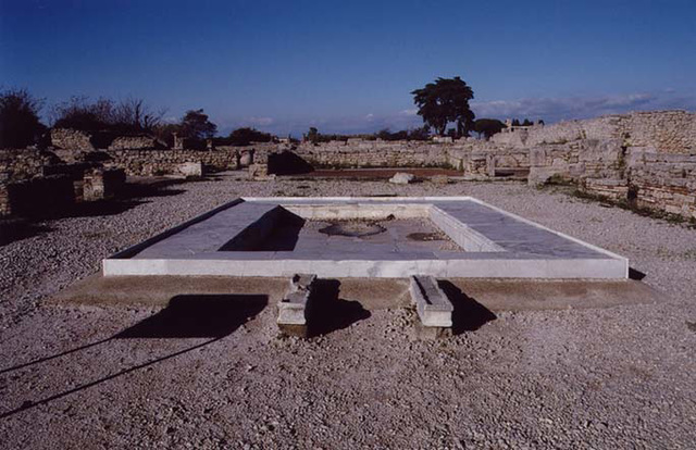 Marble Impluvium in a Roman Atrium House in Paestum, 2003