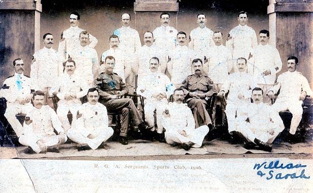 RGA Sergeants Sports Club, India 1906